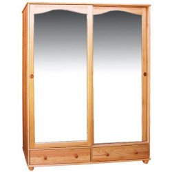 LARGE PINE WARDROBE IV 2D / 2S sliding door