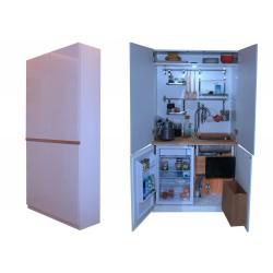 Mini mała miniaturowa kuchnia pokojowa w szafie dla małych mieszkań i pokoi (200 * 100 * 37cm )