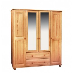 WOODEN CABINET MADE OF SOLID PINE IV 4D / 2S