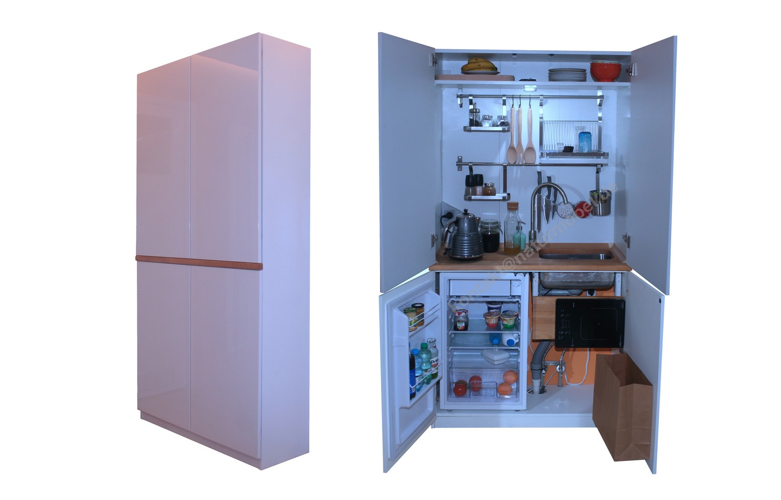 Mini cabinet closed cupboard kitchen for small apartments (200*100*37cm)